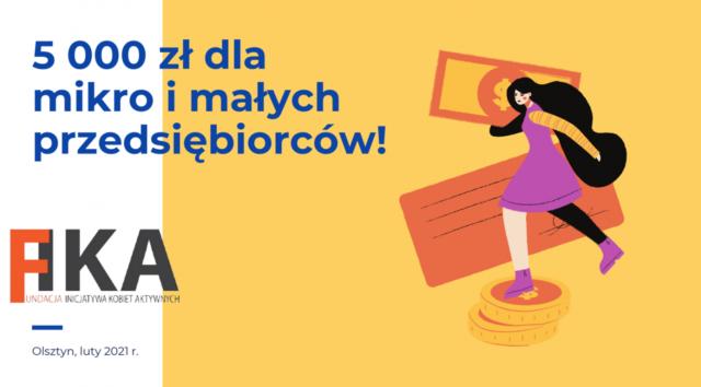 5 000 zł dla mikro imałych przedsiębiorców!