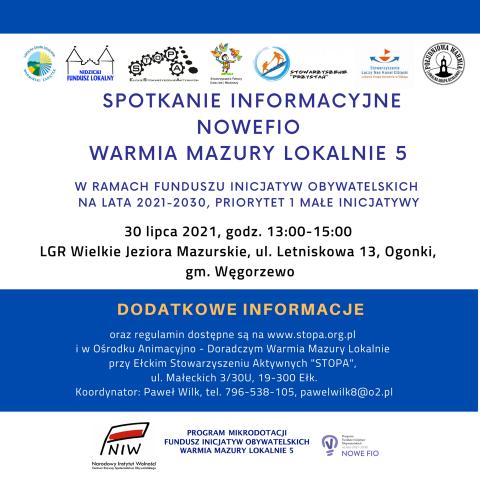 Spotkanie informacyjno-szkoleniowe FIO WML – Ogonki, 30.07.2021r.